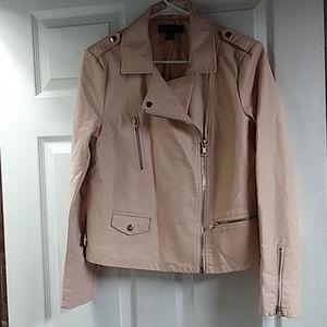 Forever 21 Pink/Peach Bomber Jacket Sz Med, EUC!